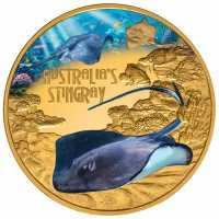Tuvalu Stachelrochen - Stingray Serie: Deadly amp Dangerous 1 oz - polierte Platte PP