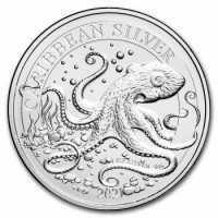 1 Unze Silbermuenze Barbados 2021 Karibischer Oktopus - Caribbean Octopus