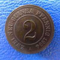 Deutsch Neuguinea 2 Pfennig 1894 Tolle Erhaltung ---