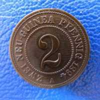 Deutsch Neuguinea 2 Pfennig 1894 Prachtstueck ---