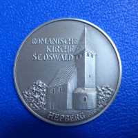 Silbermedaille Romanische Kirche St. Oswald Hepberg